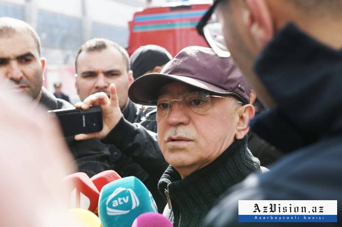 """Kəmaləddin Heydərov: """"Yanğın dönərxanadan başlayıb"""""""
