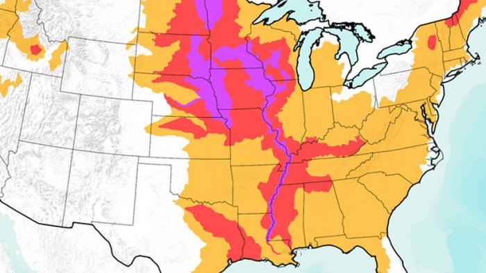 Dos tercios de EE.UU. están en peligro de nuevas inundaciones por la