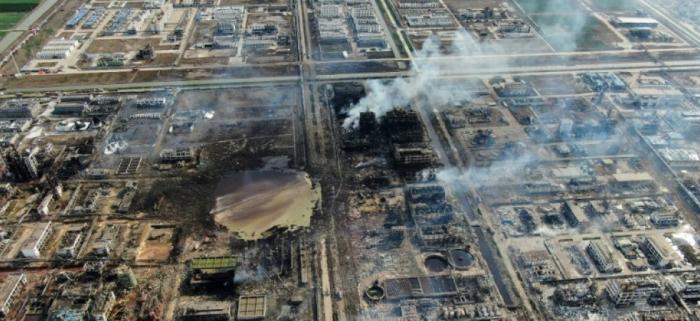 Chine:   64 morts   dans une explosion chimique, selon un nouveau bilan