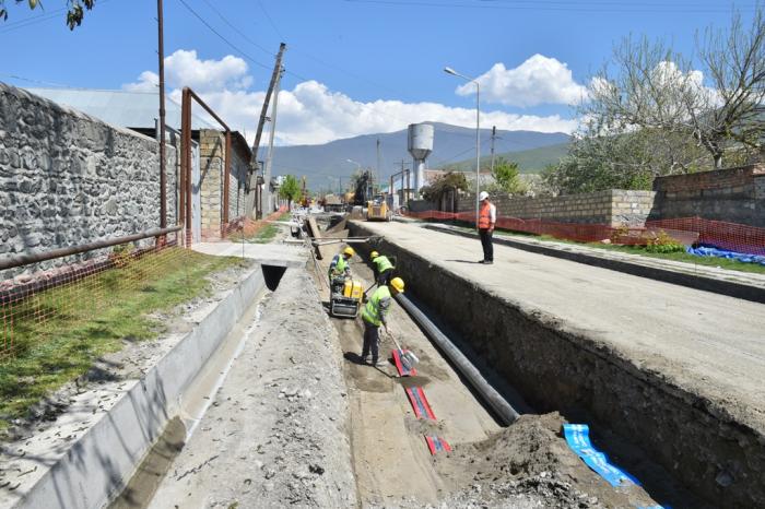 Şəkinin su və kanalizasiya sistemi yenilənir