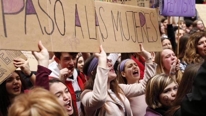 Grève des Espagnoles pour la Journée des femmes