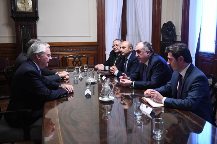 Məmmədyarov Argentina parlamentində görüşlər keçirib