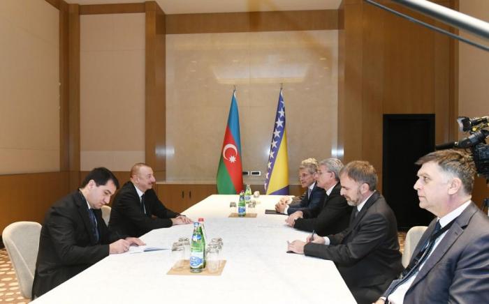 Azerbaijani president meets member of Presidency of Bosnia & Herzegovina