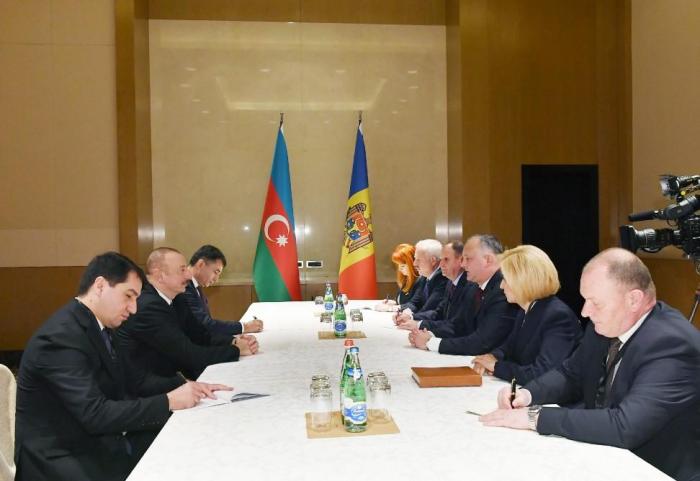 President Ilham Aliyev meets Moldovan counterpart