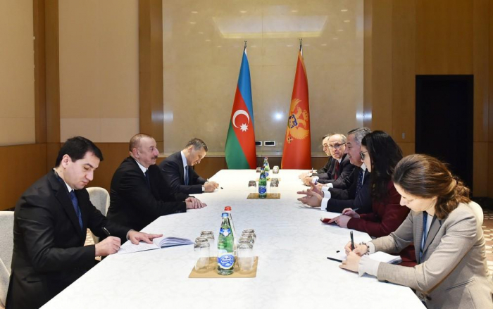 Azerbaijani president meets Montenegrin counterpart