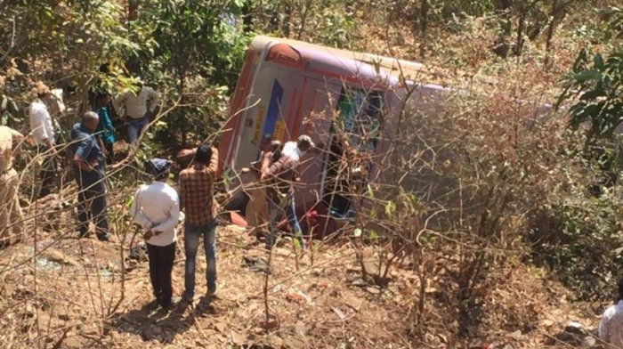 6 killed, 45 injured after bus falls into gorge in India