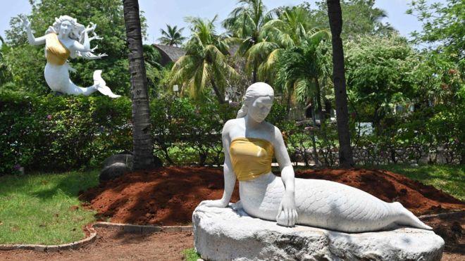 Indonesia theme park censors mermaid statues