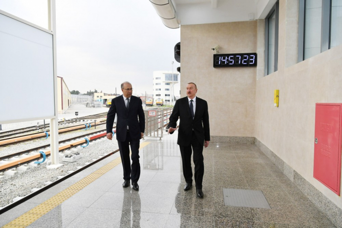 President Ilham Aliyev viewed conditions created at Bakmil station of Baku Metro after major overhaul