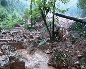 2 dead, 17 missing in landslide-triggered house collapse in China