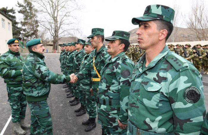 DSX-nin Ermənistanla sərhəddə yeni hərbi hissəsi istifadəyə verilib - FOTOLAR