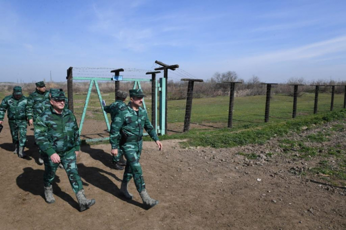 Azerbaijani border guards prevent attempted violation of state border - PHOTOS