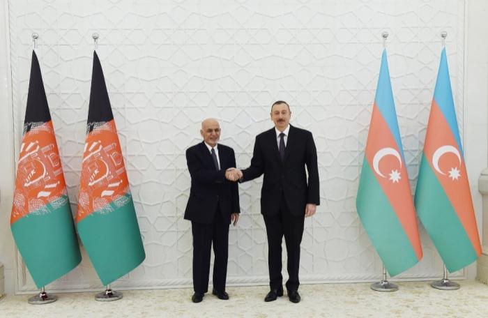 Ilham Aliyev met with Afghan President Mohammad Ashraf Ghani