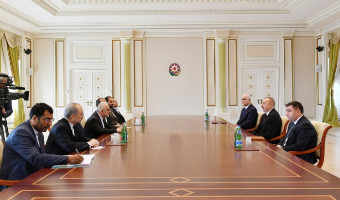 President Ilham Aliyev receives delegation led by Iranian minister of economic affairs and finance