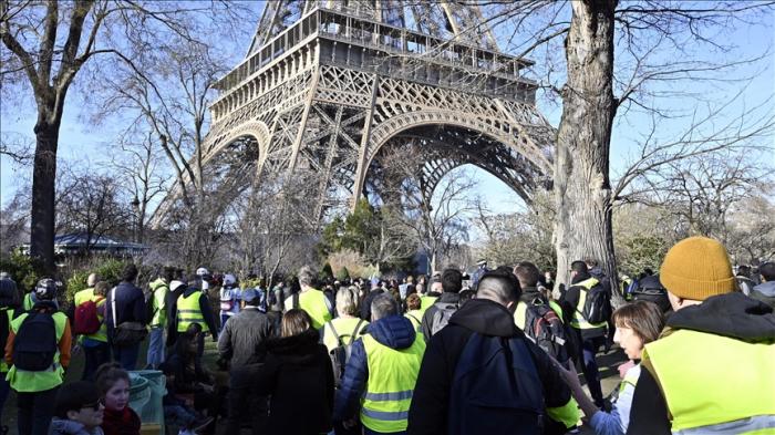 EN VIVO  : Chalecos amarillos protestan en París por 22ª semana consecutiva