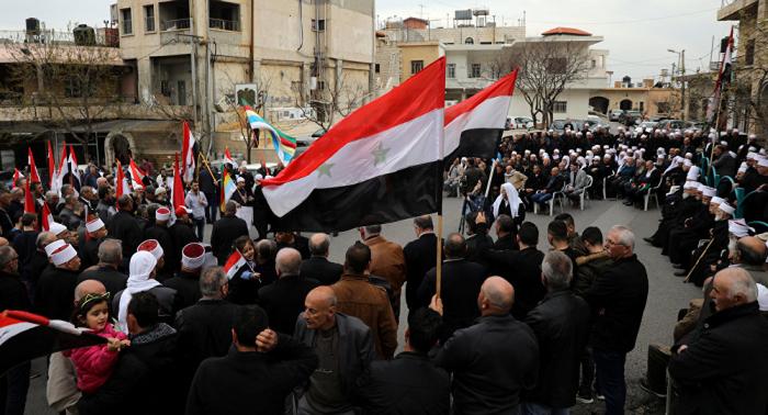 Protestas masivas en el sur de Siria tras decisión de EEUU sobre los Altos del Golán