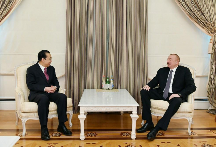 Azerbaijani president receives president of Chinese People's Institute of Foreign Affairs