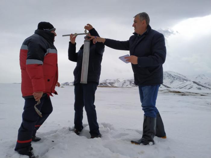 Qarölçmə işləri Zəyəmçay hövzəsində davam etdirilir - FOTO