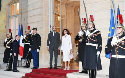 مهريبان علييفا تلتقي رئيس الوزراء الفرنسي - صور