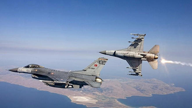 Turkish Air Force destroys terrorist strongholds in Iraq