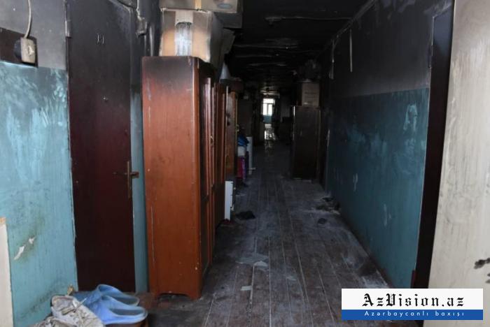 Yataqxanadakı yanğının qəsdən törədildiyi ehtimalı araşdırılır