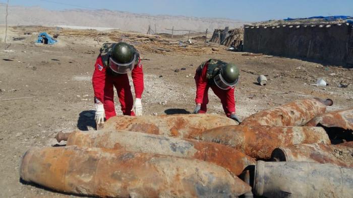 Yevlaxda 65 ədəd partlamamış hərbi sursat tapılıb