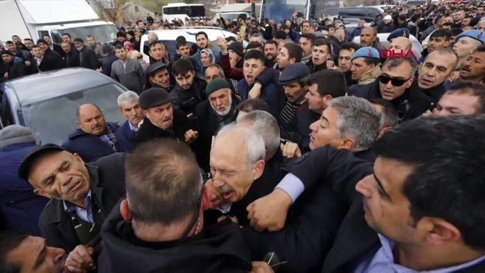 Kılıçdaroğluna hücumun yeni görüntüləri yayıldı - VİDEO