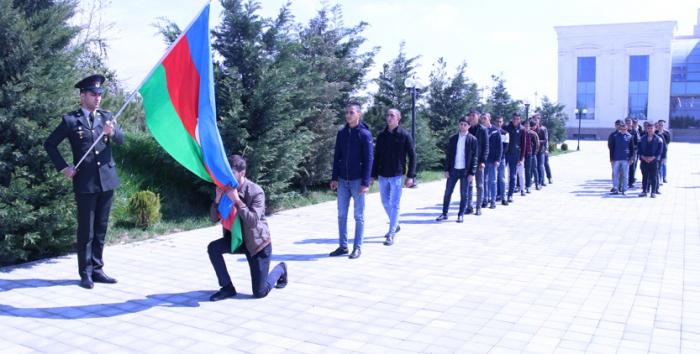 Ağdaşlı çağırışçılar hərbi xidmətə yola salındılar