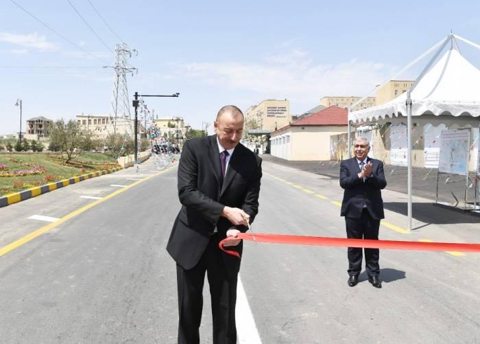 Ilham Aliyev inaugure la route Merdékan-Gala