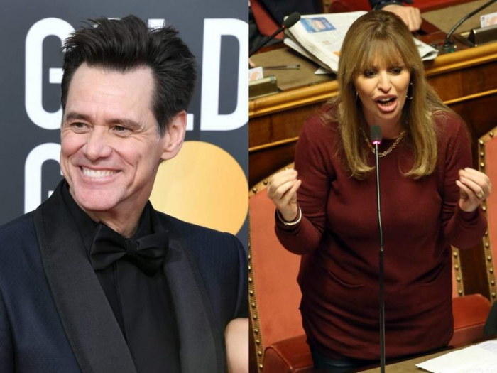 Mussolini's granddaughter kicks off at Jim Carrey over joke about hanging fascists