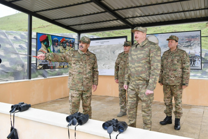 President Ilham Aliyev visits military unit of Defense Ministry`s Special Forces - UPDATED, PHOTOS