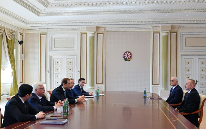 Azerbaijani President receives RussianMinister of Industry and Trade - UPDATED