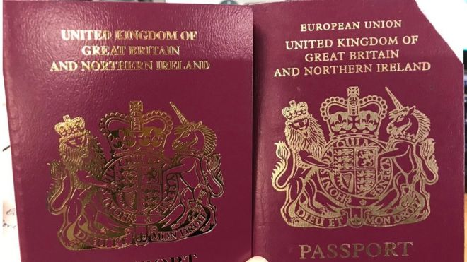 Brexit: UK passports issued without