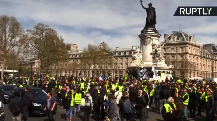 20+ arrested, leader fined: Yellow Vest protests open 'Act 21' in France -  VIDEO