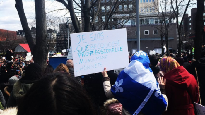 Québec protesters decry 'discriminatory' bill banning religious symbols on state workers