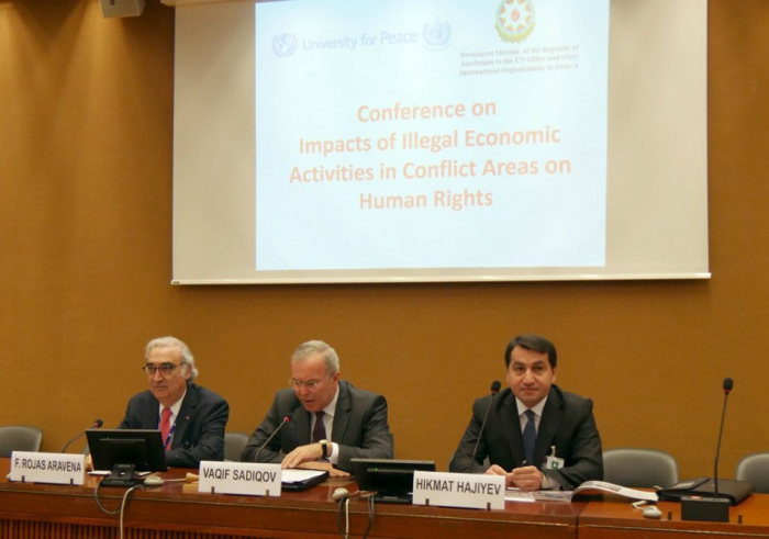 Hikmat Hajiyev attends conference in Geneva