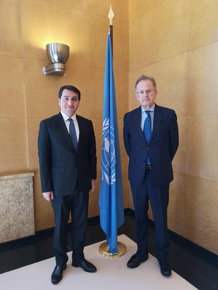 Azerbaijani official meets head of UN Office in Geneva