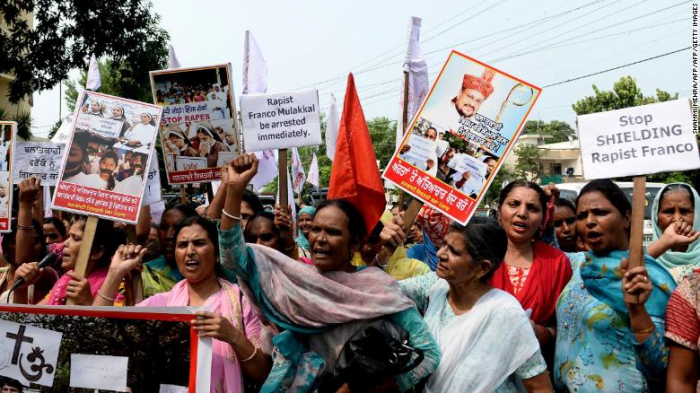 Catholic bishop charged with raping nun in India