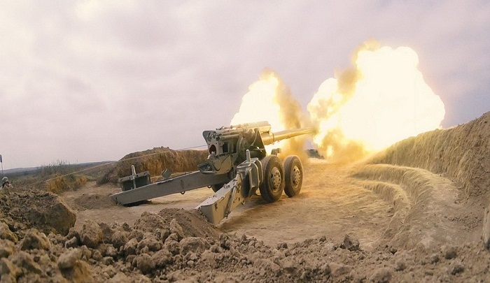 Azerbaijani army's artillery units stage live-fire exercises -   PHOTOS+VIDEO