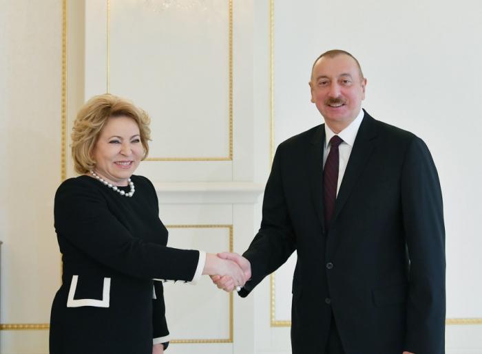 """İlham Əliyev: """"Rusiya ilə əlaqələr çoxplanlıdır"""" - FOTOLAR (Yenilənib)"""