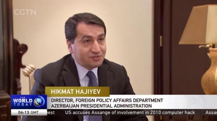 Hikmat Hajiyev:   Gürtel-und-Straße-Initiative schafft große Möglichkeiten für aserbaidschanisch-chinesische Zusammenarbeit