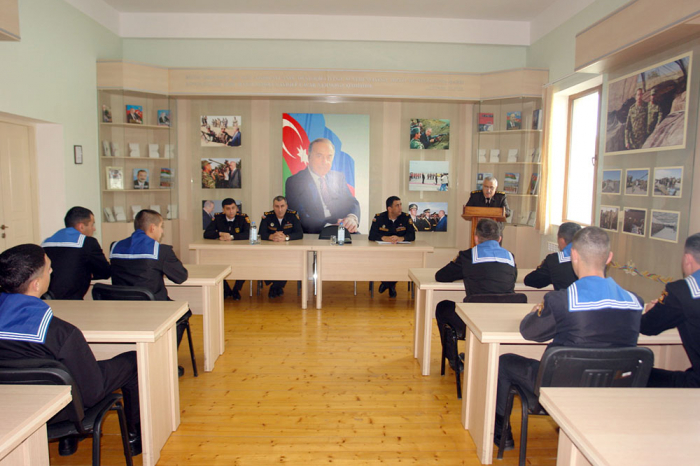 Azerbaijani Naval Forces hosts representatives of Military Prosecutor's Office