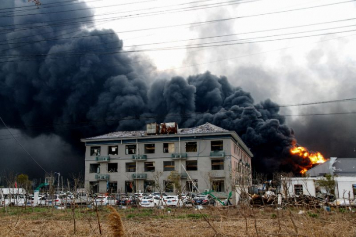 China police detain 17 people after deadly chemical blast