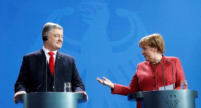 SPD kritisiert Merkel scharf für einseitige Wahlunterstützung Poroschenkos