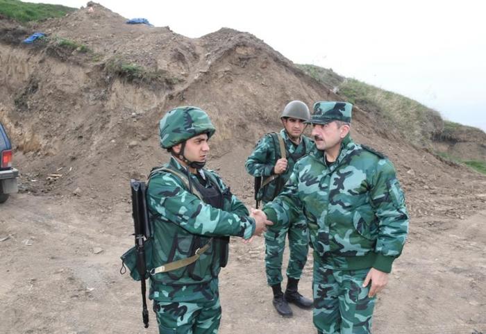 Azerbaijani SBS chief checks combat readiness of checkpoints at border with Armenia