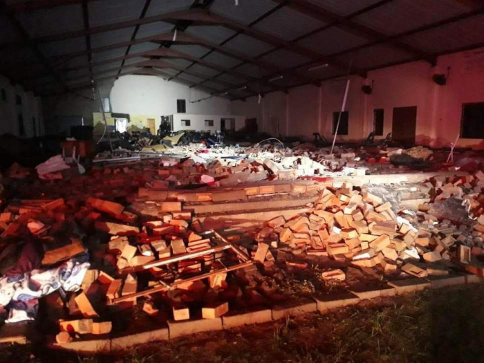 Church collapses on Easter service killing 13 people in South Africa