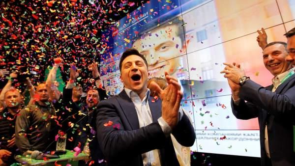 Zelenski gana las elecciones presidenciales de Ucrania con un 73,20 % de los votos