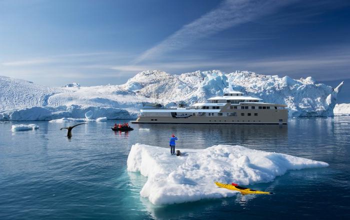 FOTOS:   Así será el yate rompehielos de un multimillonario ruso capaz de navegar por la Antártida