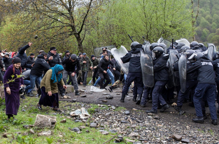 Georgia: Police clashes with protesters against hydropower plant-  NO COMMENT