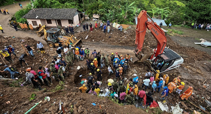 Sube a 17 el número de muertos por deslizamiento de tierra en Colombia