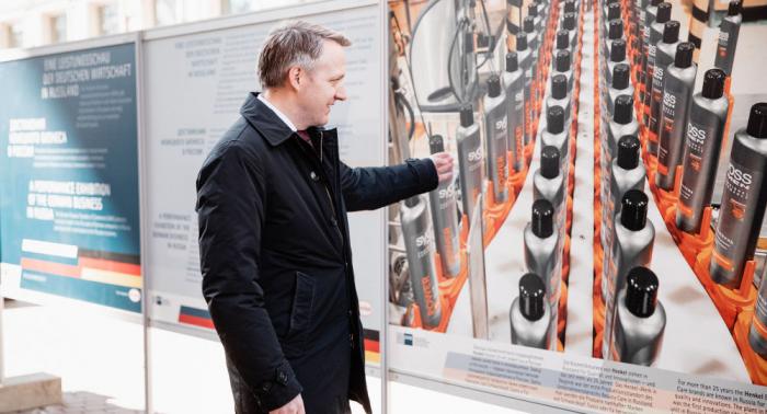 """Ausstellung über deutsche Unternehmen in St. Petersburg zeigt Profil deutscher """"Russland-Meister"""""""